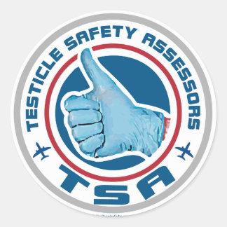 TSA Logo - Testicle Safety Assessors Classic Round Sticker