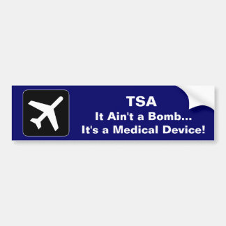 TSA Medical Device Car Bumper Sticker
