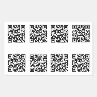 TSA QR Code Prank Rectangular Sticker