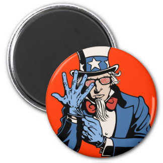 TSA- Uncle Sam 2 Inch Round Magnet