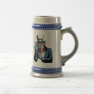 TSA- Uncle Sam Beer Stein