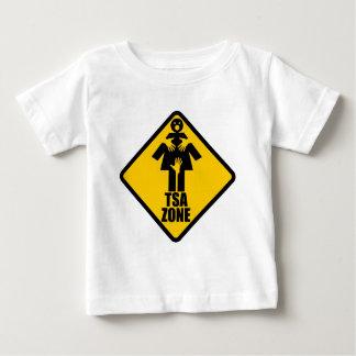 TSA Zone Caution Sign Design Baby T-Shirt
