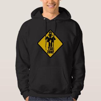 TSA Zone Caution Sign Design Hooded Sweatshirt