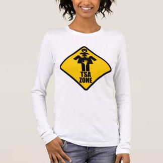 TSA Zone Caution Sign Design Long Sleeve T-Shirt
