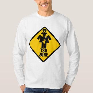 TSA Zone Caution Sign Design T-shirt