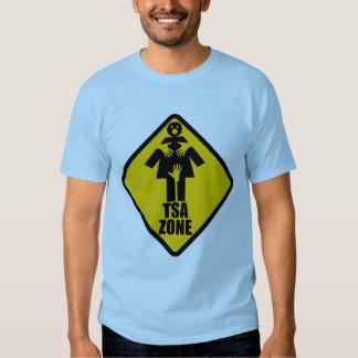 TSA Zone Caution Sign Design Tee Shirt