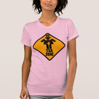 TSA Zone Caution Sign Design T Shirt