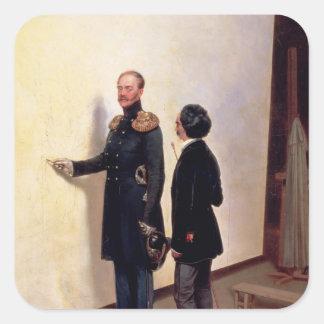 Tsar and Artist Square Sticker
