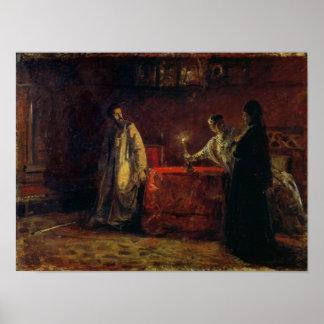 Tsar Boris Godunov  and Tsarina Martha, 1874 Poster