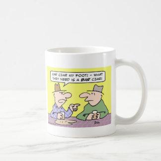 tsar del zar del coche de barra taza de café