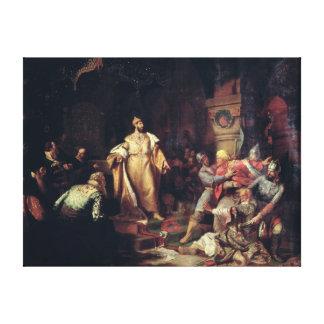 Tsar Ivan III  Tearing the Deed of Tatar Khan Canvas Prints