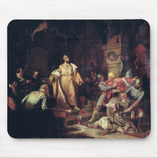 Tsar Ivan III  Tearing the Deed of Tatar Khan Mouse Pad