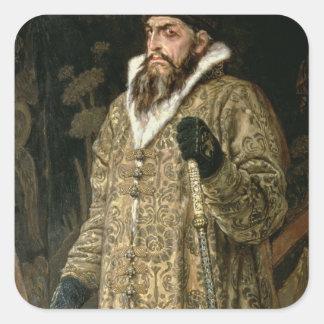 Tsar Ivan IV Vasilyevich 'the Terrible'  1897 Square Stickers
