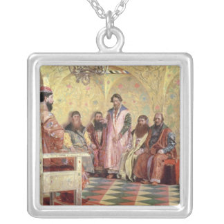 Tsar Mikhail Fyodorovich  with Boyars Silver Plated Necklace