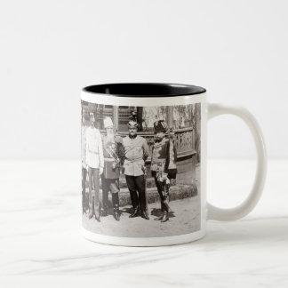 Tsar Nicholas II (1868-1918) standing in the garde Coffee Mug