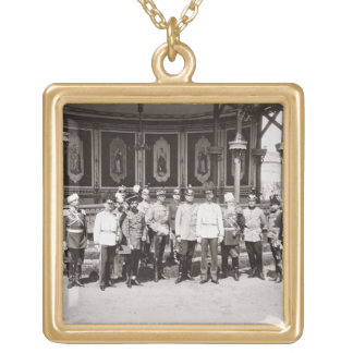 Tsar Nicholas II (1868-1918) standing in the garde Personalized Necklace