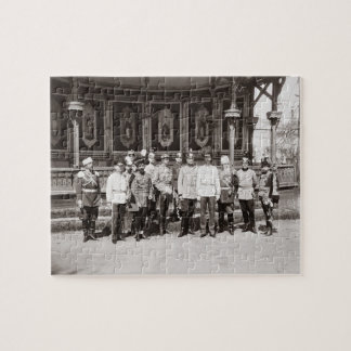 Tsar Nicholas II 1868-1918 standing in the garde Puzzles