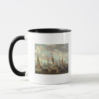 Tsar Peter I  visiting England in January 1698 Mug