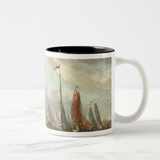 Tsar Peter I  visiting England in January 1698 Two-Tone Coffee Mug