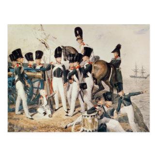 Tsarevich Alexander con sus cadetes en Tarjeta Postal