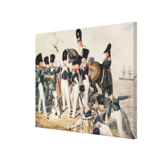 Tsarevich Alexander  with his Cadets at Canvas Print