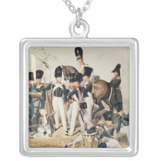 Tsarevich Alexander  with his Cadets at Silver Plated Necklace