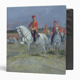 Tsarevich Nicolas  Reviewing the Troops, 1899 3 Ring Binder