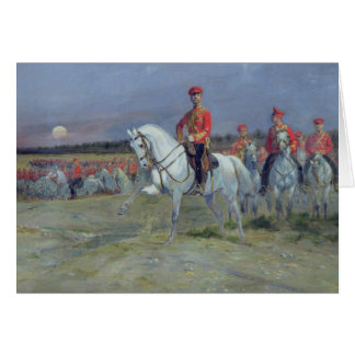 Tsarevich Nicolas  Reviewing the Troops, 1899 Greeting Card