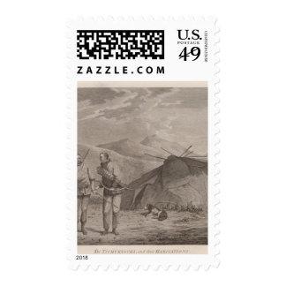 Tschuktschi and habitations, Russia Stamp