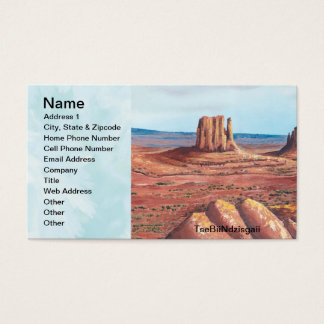 TseBiiNdzisgaii - Monument Valley Business Card