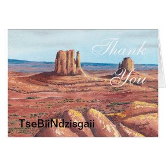 TseBiiNdzisgaii - Monument Valley Card