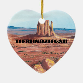TseBiiNdzisgaii - Monument Valley Ceramic Ornament