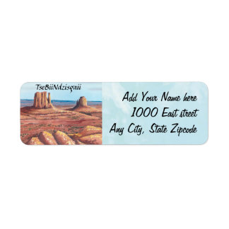 TseBiiNdzisgaii - Monument Valley Label