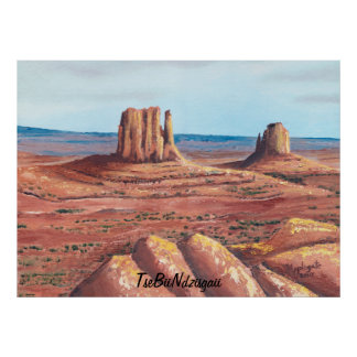 TseBiiNdzisgaii - Monument Valley Poster
