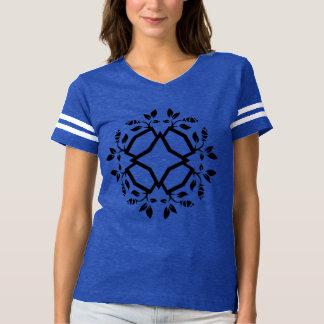 Tshirt blue with mandala art / sporty Edition
