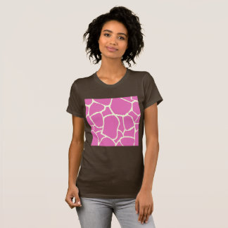 Tshirt brown with pink pattern