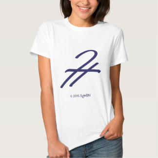 TShirt del símbolo de la admiración de SymTell de Poleras