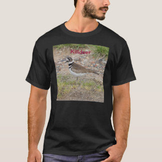 Tshirt depicting 2 birds in the Plover family.