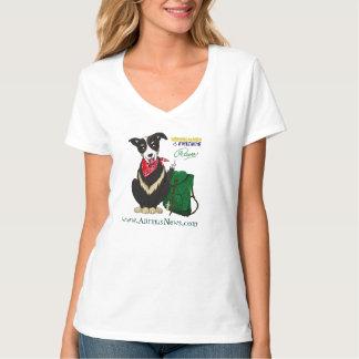Tshirt Dog Animus Raven Red Bandana Cute Pet