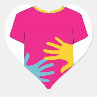 tshirt graphic- Pop art graphic Heart Sticker