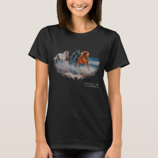 Tshirt, Horses in the Surf, Crazy Horse Lady T-Shirt