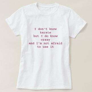 Tshirt - karate crazy