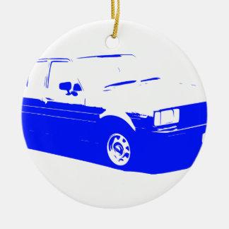 Tshirt Old Corolla blue-1983 Ceramic Ornament