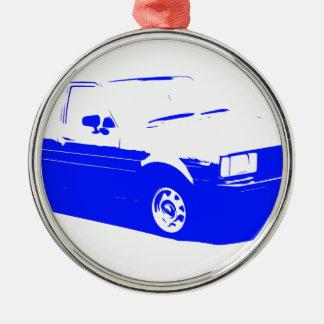 Tshirt Old Corolla blue-1983 Metal Ornament