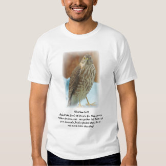 Tshirt with bird of prey photo and bible scripture
