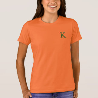 Tshirt with letter K