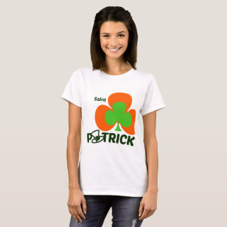 tShirt woman St Patrick' S Day - Green Orange and