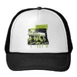 TSHIRTLimeMensCityScapeTshirt Mesh Hat