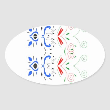 Professional Business Tshirts with Ornaments Oval Sticker