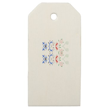 Professional Business Tshirts with Ornaments Wooden Gift Tags
